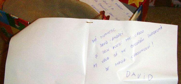 Mesaj de la un copil pentru altcopil, in cutia de pantofi - ShoeBox2011 - Sighisoara