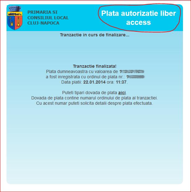 Coduri QR, plati impozite de pe mobil si primaria Cluj Napoca