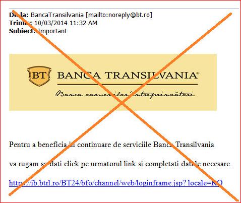 Phishing Banca Transilvania