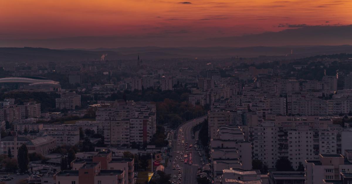 Vedere peste Cluj (ca) din dronă
